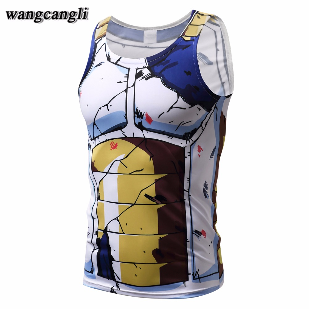 Brand clothing Dragon Ball Z Vegeta T Shirts Anime shirt Super Saiyan Buu/Piccolo/Cell funny t shirts 3D Tees body engineers(China (Mainland))