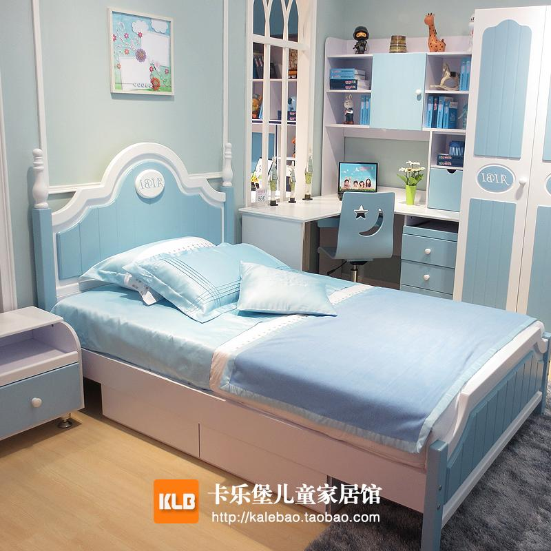 blue boy korean children 39 s beds contracted pneumatic high storage box