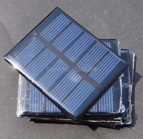 2.5V 0.5W Mini Solar Panels Solar Power Battery Charge Solar Cell Diy Panel 58*70*3mm 10pcs/lot Wholesale Drop Free Shipping(China (Mainland))