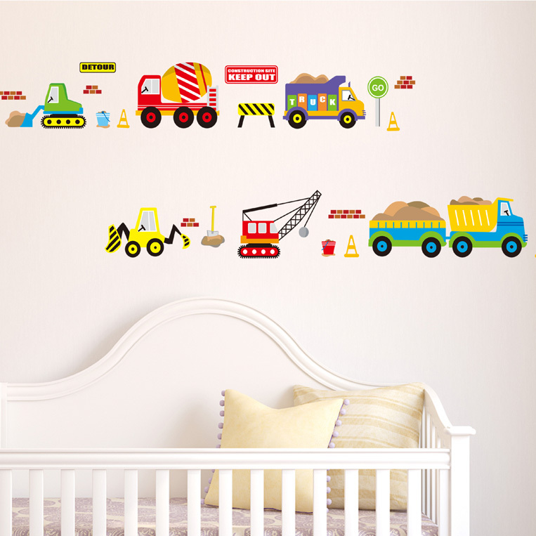 Cartoon cars toy story for boys wall stickers for kids for Stickers for kids room