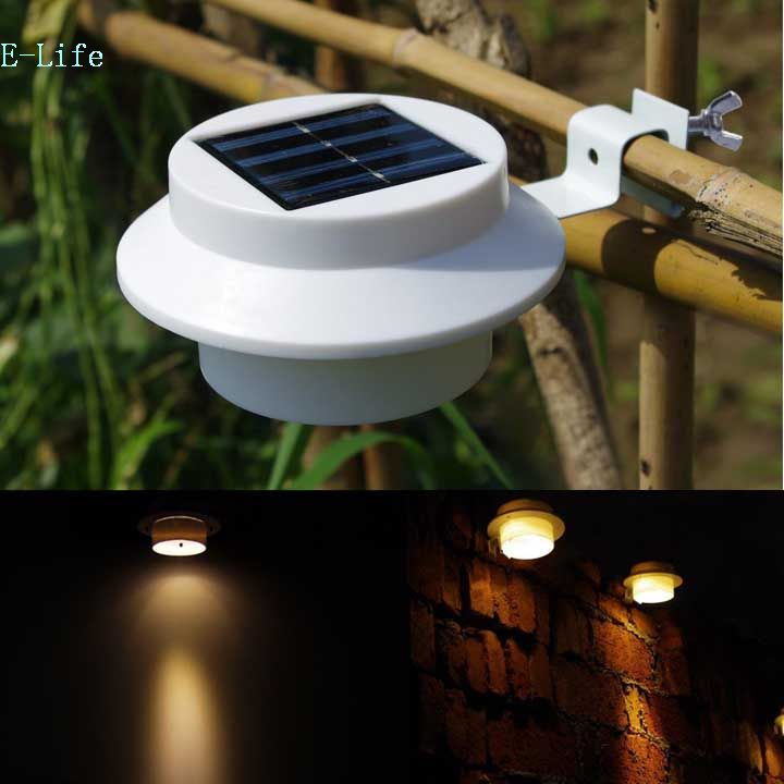 super bright yard lamp solar panel garden light 3 led