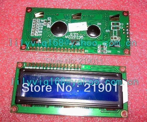 FREE SHIPPING 2PCS/LOT LCD1602 LCD 1602 blue screen  1602A-5v