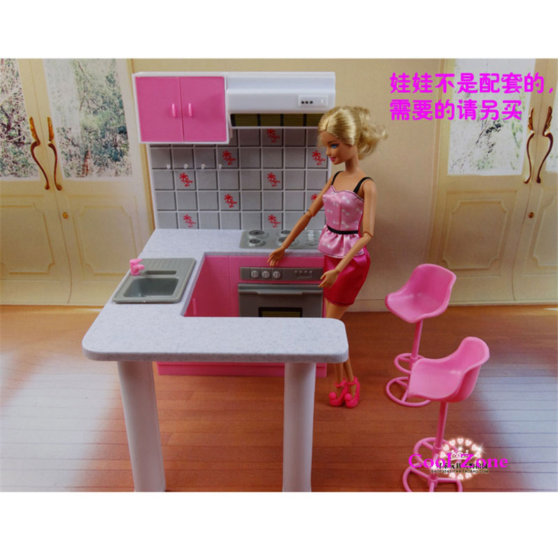 2 Pcs Lot Miniature Furniture Combo Kitchen And Tableware
