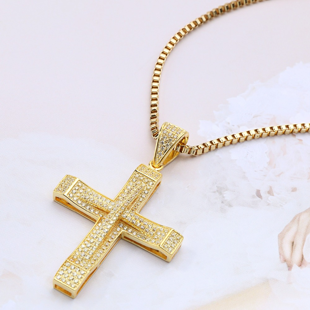 Men Women Hiphop Silver Jesus Prayer Cross Pendant Necklace For Vintage Christian Religious Jewelry Exquisite Box Hollow Back(China (Mainland))