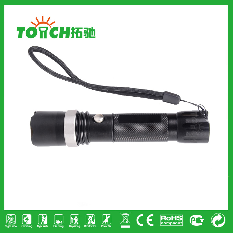2016 New Design Police Torch LED Flashlights CREE XML Q5 Rechargeable Flashlights military dimmer linternas zaklamp 8001(China (Mainland))