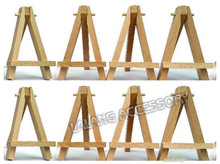 10pcs Wooden Crafts Arist Easel for Artwork Display,oil painting on canvas With the easel Happiness the creative Gift 671837(China (Mainland))