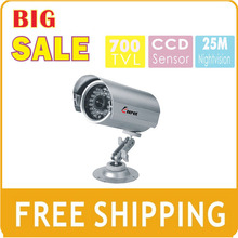KEEPER Free Shipping Metal Outdoor Waterproof SONY CCD 700TVL  Security Analog CCTV Camera with 30PCS IR LEDS