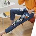 Fashion 2016 Women jeans plus size denim ankle length trousers female summer cartoon loose harem pants