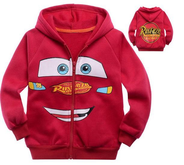 Kids jacket cartoon baby kids boys girls cartoon cars hooded coat