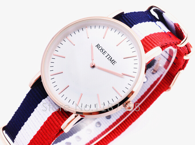 2015 news big dial Style watches, quartz watch, classic canvas band,International brand watch free shipping(China (Mainland))
