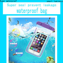 Hot Sale PVC Durable Waterproof Bag 100% Sealed Phone Cases Pouch For Blackberry 9370 universal Waterproof Bag phone case
