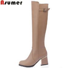 Más el tamaño 34-49 nuevo llega sexy women rodilla botas altas zapatos de mujer tacones altos de piel de invierno moda nieve Motorcycle Boots(China (Mainland))