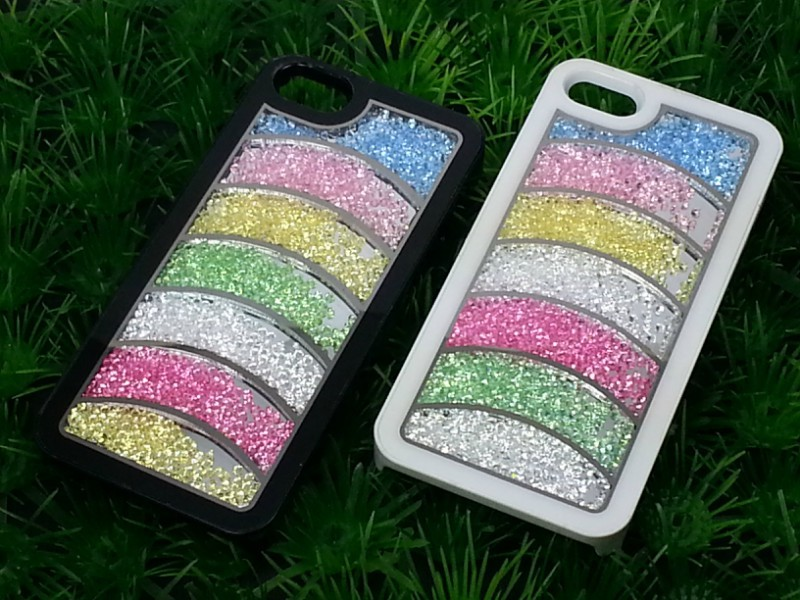 For iphone 5 5G 5S Case Stylish Luxury Glitter Crystal Lovers Case For iPhone 5 handmade Beads case(China (Mainland))