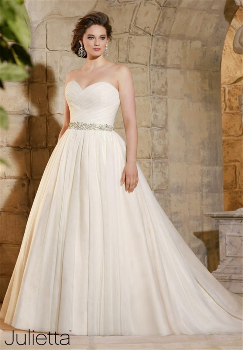 Plus vestidos de boda de tamaño con mangas