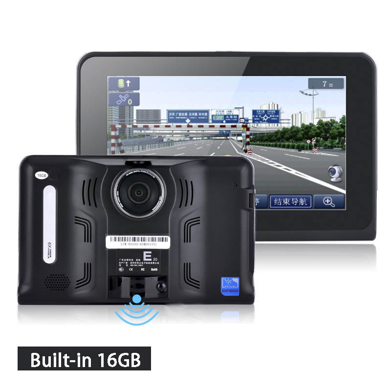 7 inch Capacitive Screen Android Car Truck GPS Navigation Rear view Tablet PC Radar Detector built-in 8 gb / 16 gb(China (Mainland))