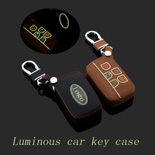 Buy Leather car Key fob case cover Land Rover a9 range rover freelander Evoque discovery keychain ring key holder bag Accessory for $19.90 in AliExpress store