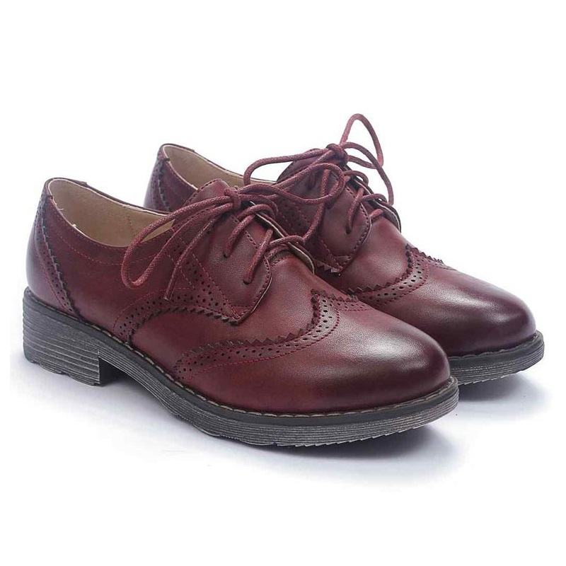 Vintage zapatos mujeres retro rojo noche