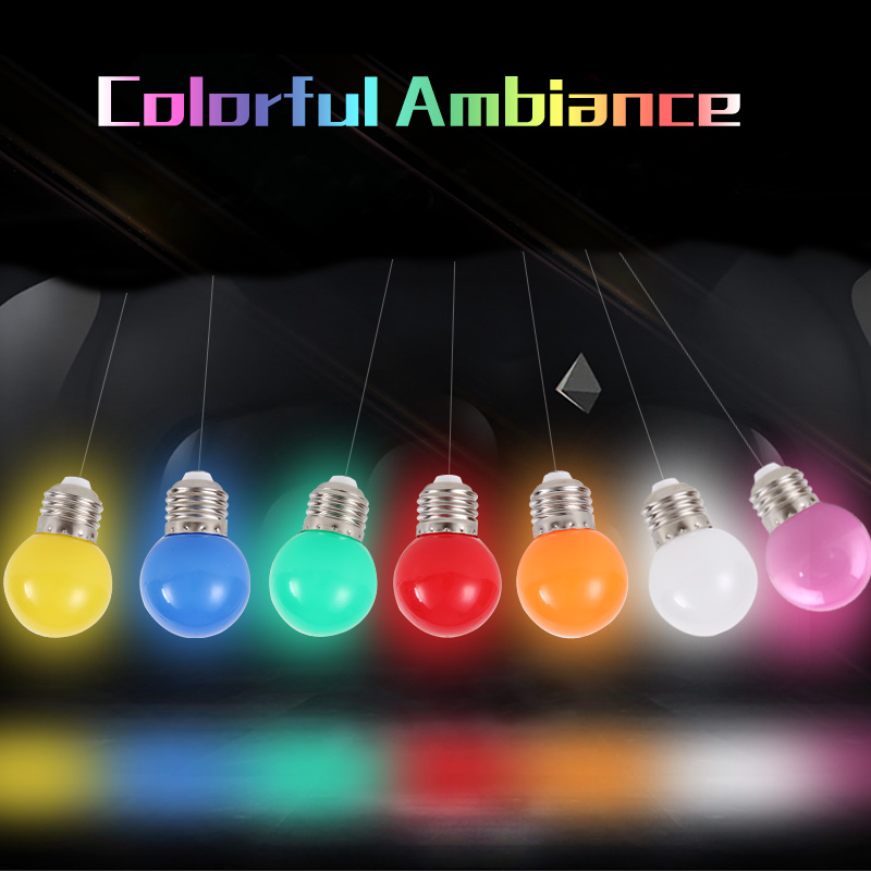 1pcs Home Lighting Colorful Led Bulb E27 3w Energy Saving White Red Blue Green Yellow Orange Pink Lamp Light 220V Lamparas(China (Mainland))