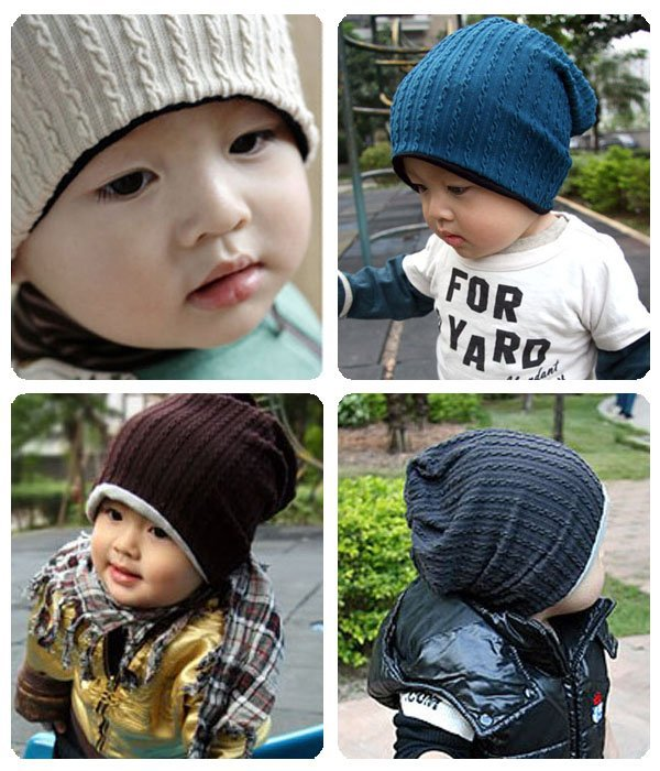 1 Pcs thread baby cap Kids hats Cotton Beanie Infant cap children baby hat(China (Mainland))