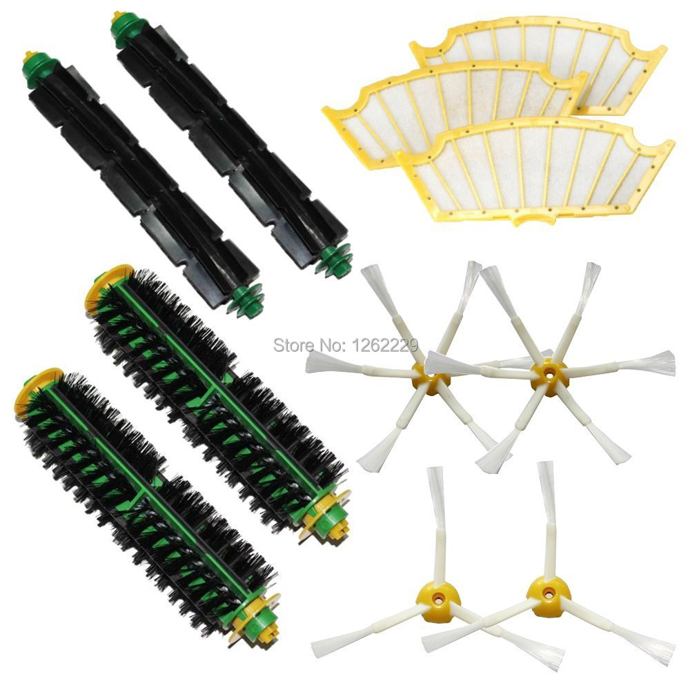 Brushes Pack Kit for iRobot Roomba 500 Series Roomba 510, 530, 535, 540, 560, 570, 580, 610 Vacuum Cleaning Robots(China (Mainland))