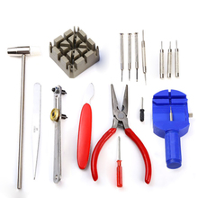 2016 High Quality New 16PC Watch Repair Tool Watch Clock Hours Opener Tool Kit Repair Change Cell Pin Remover Fixed Tools(China (Mainland))