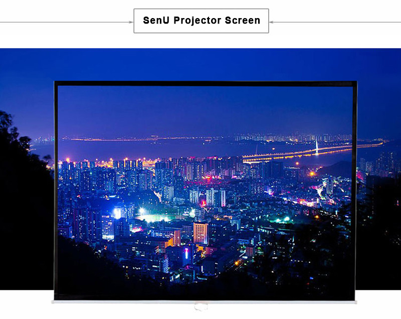 Thinyou 60inch 16:9 Simple Projector High-definition Screen Portable White Curtain Home Office School portable projection screen