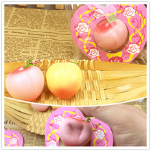 2016 new arrival slow rising ERIC I love mini peach with scent squishy charm toy original tag card ball point chain freeshipping(China (Mainland))