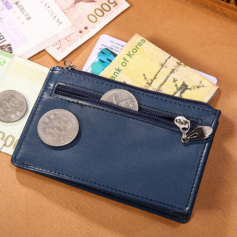 Thin Wallet Men Vintage Slim Mini Wallet Fashion Cow Long Leather ID Credit Card Case Male Coin Card Holder Gift Clutch Hot Sale(China (Mainland))