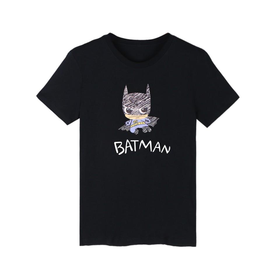 Super Hero Batman 4XL Black cotton T Shirt Men Funny with T-shirt Men Famous Brand in Tee Shirt Long Navy Blue White(China (Mainland))