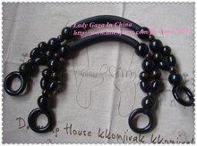 """18"""" long Black bag frames,wooden crocheted bags/knitting bag handles,40pcs freeshipping(China (Mainland))"""