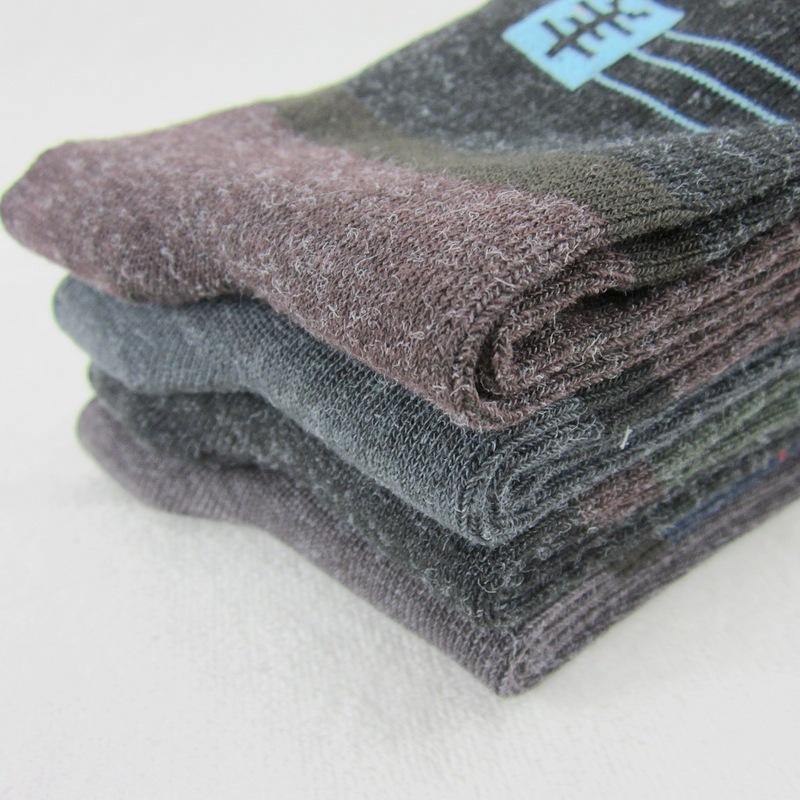5 pair/lot модели тёплый зима мужчины в шерсть носки толстый носки вилочная часть средняя средний-икры длина носки AA321B3