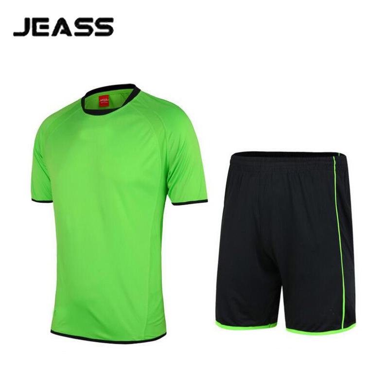 JEASS 2016 Men Soccer Jerseys Training Suit Male Breathable Soccer Uniforms Kits Football Jersey Sportswear Set maillot de foot(China (Mainland))