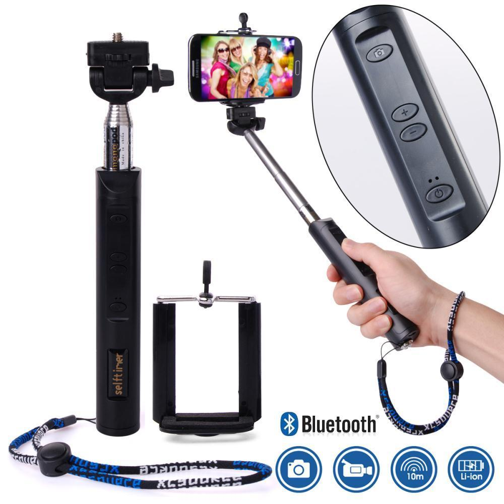 wireless remote controller handheld zoom selfie stick monopod for htc samsung. Black Bedroom Furniture Sets. Home Design Ideas