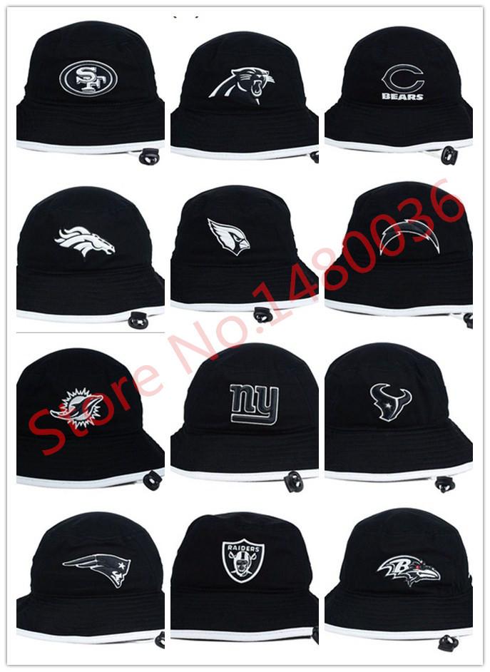2015 New Bucket Men Women Kids hat Sports Football teams Black caps Fishing hat Snapback summer sun hat chapeau touca fashion(China (Mainland))