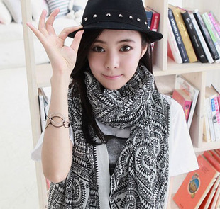 2015 Big Size 170*80 cm Women Bohemia national trend autumn and winter scarf Free shipping(China (Mainland))