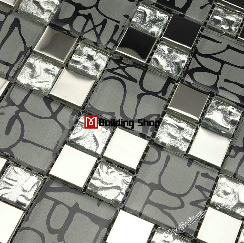 Buy Silver Metal Mosaic Stainless Steel Tile Backsplash