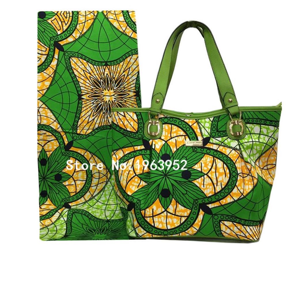 African wax with bag in Green!!Item 016,High quality women bag for party dress.<br><br>Aliexpress