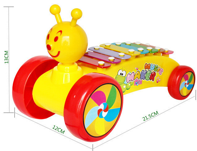 Snails Rolling Xylophone Knock on Piano Baby Kids Plastic Toddler Learning Fun Toy(China (Mainland))