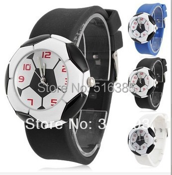 2014 new Drop shipping, fashion design women's luxury brand watch, football quartz watch movement of military men and women(China (Mainland))