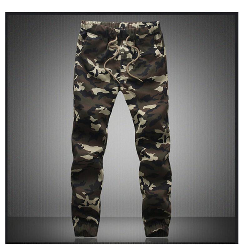 M-5X 2016 Mens Boutique Autumn Pencil Harem Pants Men Camouflage Military Pants Loose Comfortable Cargo Trousers Camo Joggers(China (Mainland))