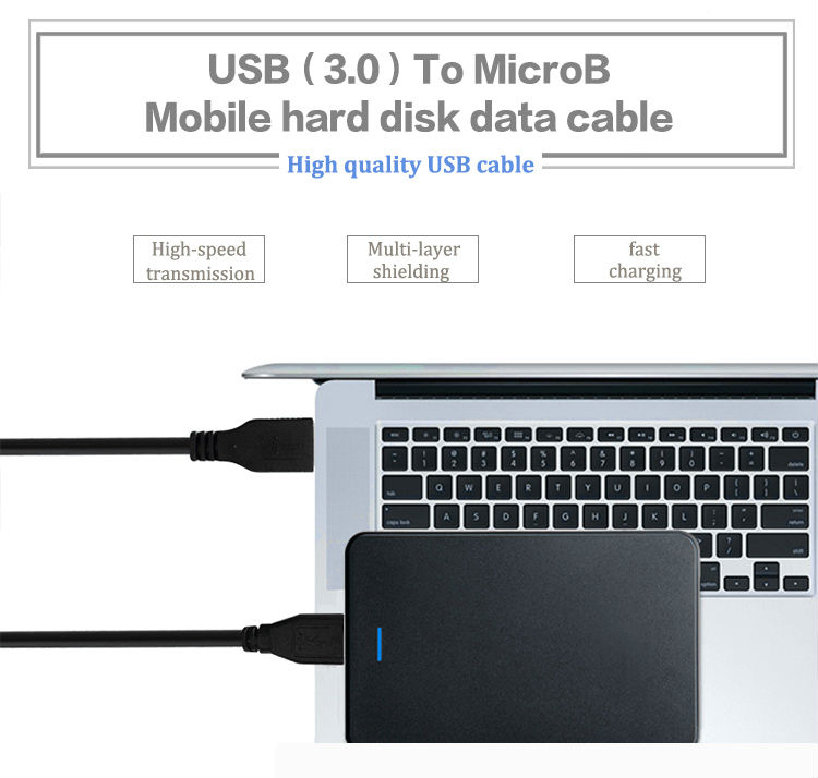 USB 3.0 PC Data SYNC Cable For -SeagateFreeAgent GoFlex Desk External Hard Drive