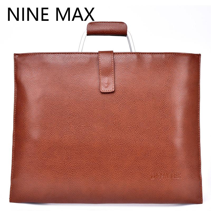 Men bag 100% genuine leather bag 2016 new famous brands high quality men messenger bags laptop bag vintage fashion dollar price(China (Mainland))