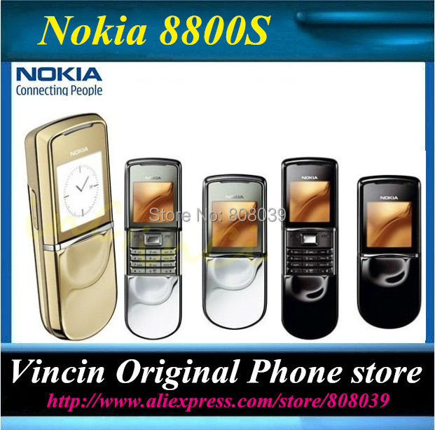 Original Nokia 8800 sirocco 8800S support russian keyboard 64MB memory with Bluetooth headset Desktop Charger Refurbished(China (Mainland))