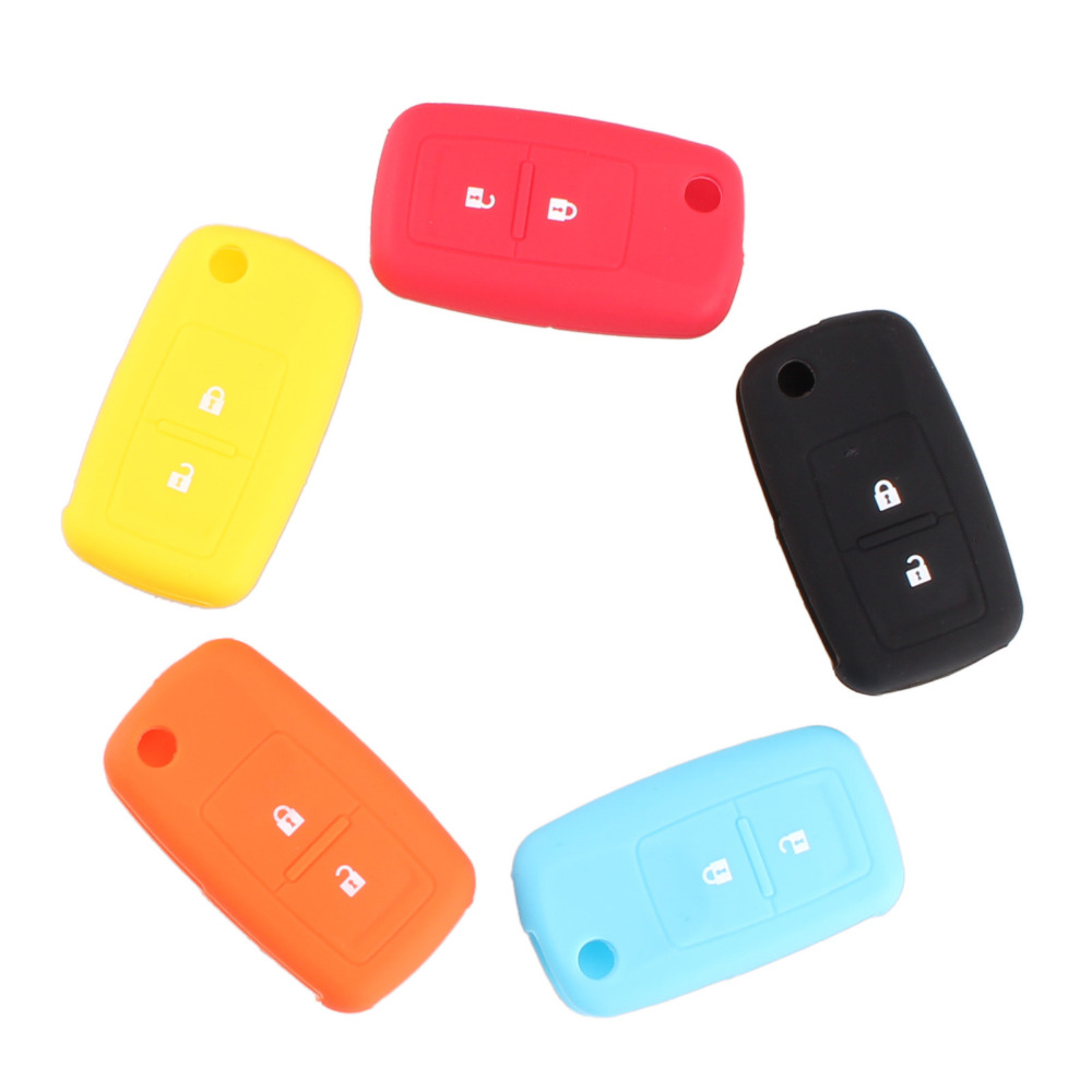 New Silicone 2 Buttons Car Flip Key Cover Case Shell For VW Passat Polo Golf Touran Bora Jetta Cady Touran Sharan Transporter(China (Mainland))