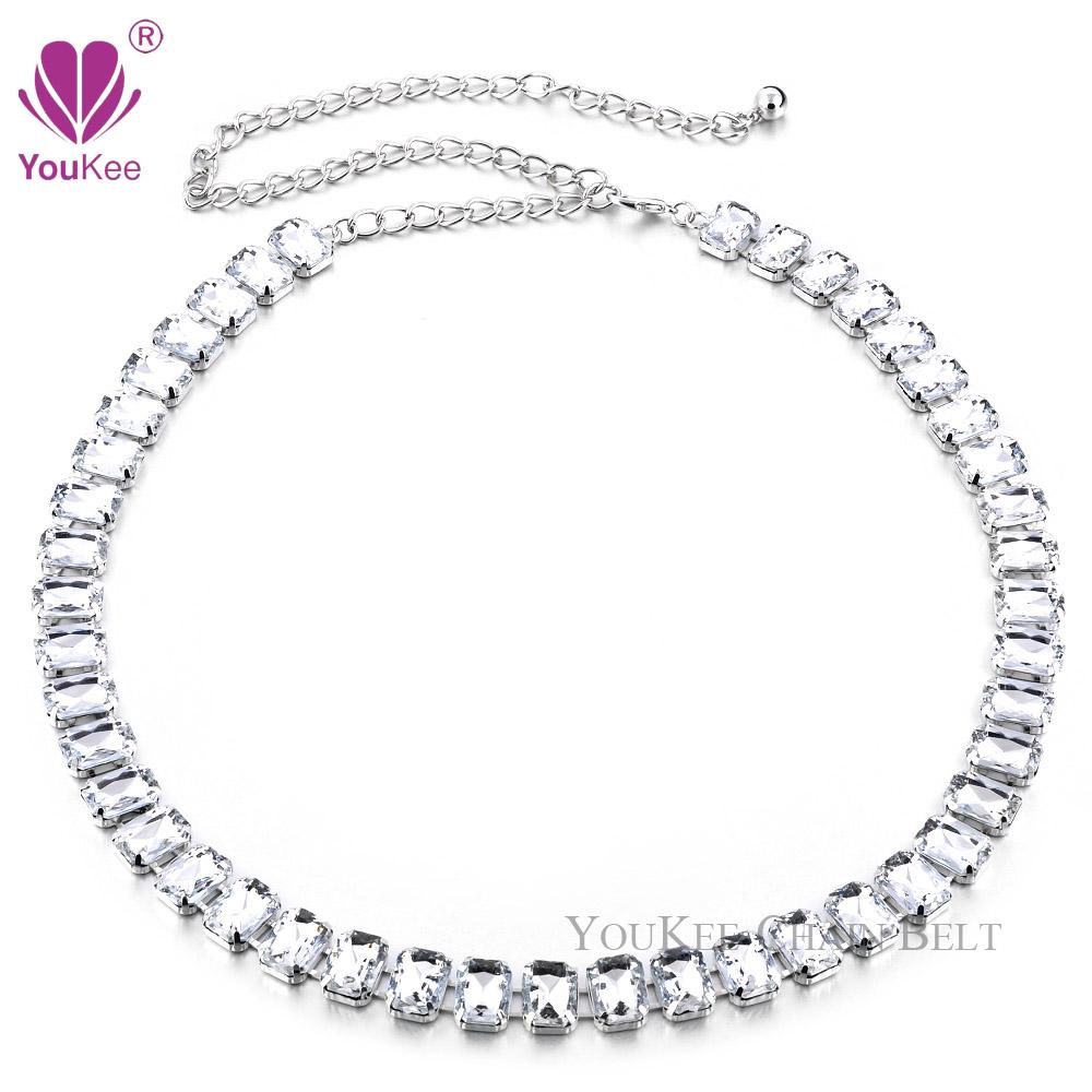 36pcs/lot Big Clear Rhinestone Women Chain Belt Crystal&amp;Metal Apparel Accessories Wedding Cintos Femininos (BL-696) YouKee BeltОдежда и ак�е��уары<br><br><br>Aliexpress
