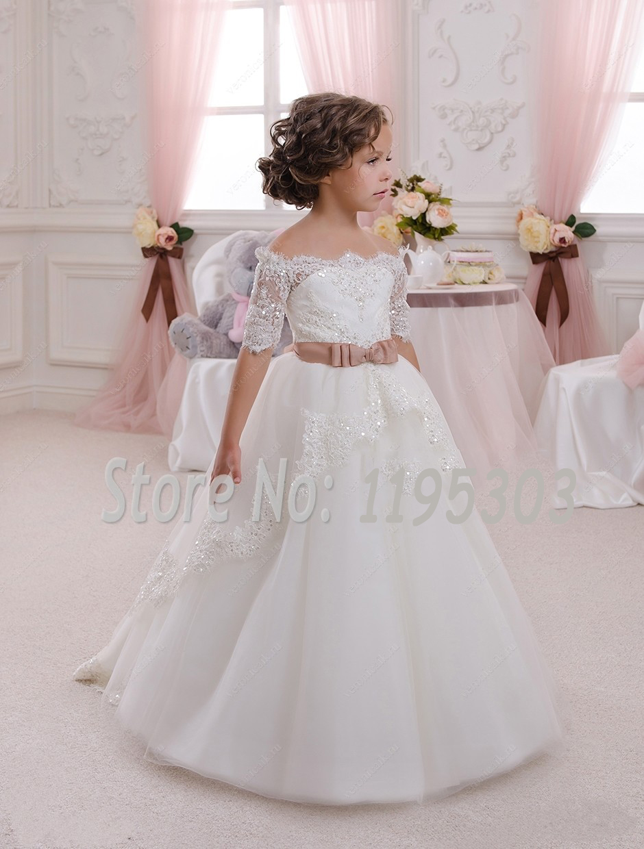 price ivory lace flower girl dresses