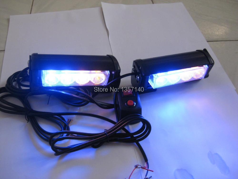 2x4 led police strobe lights vehicle strobe light car warning lights. Black Bedroom Furniture Sets. Home Design Ideas