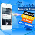 0.26 mm for iphone 5/5s Tempered Glass front clear screen protection glass film on the iphone 5s premium screen protector glass