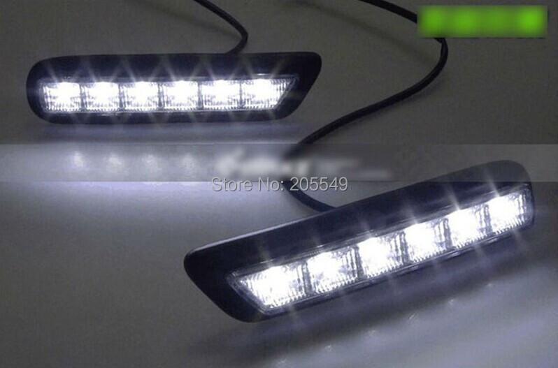 LED DRL Daytime Running Light Fog Lamps For MITSUBISHI OUTLANDER SPORT RVR ASX 2010-2012 2010 ...