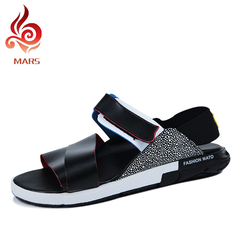 Summer Style Men Sandals Fashion New Flip Flops Leisure Beach Masculine Slippers Casual Leather Shoes Size 39-44 JLK09 - Mars House store